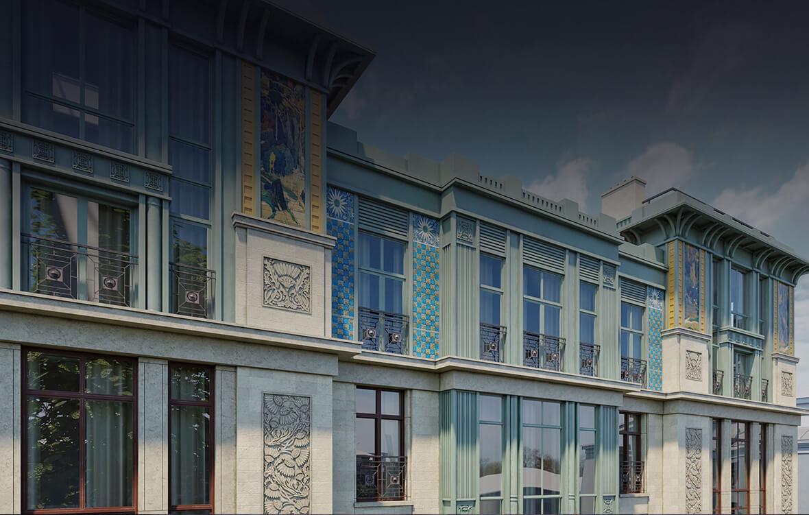Узнаваемая часть декора фасада